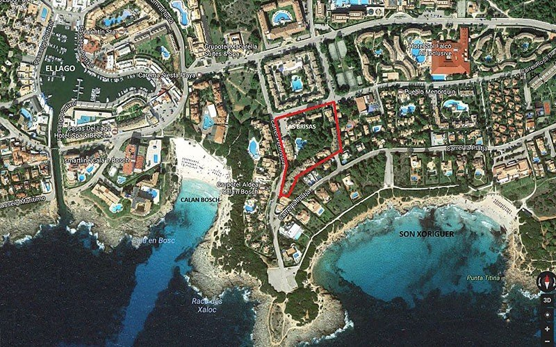Aerial view of Las Brisas apartments